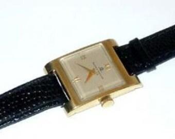 Vintage 1980s Ladies 14kt Gold Baume and Mercier Dress Watch 14k