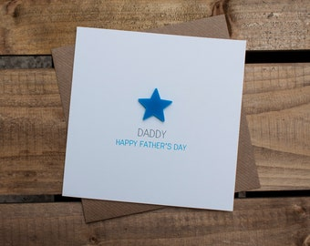 Daddy HAPPY FATHERS DAY Card with detachable magnet keepsake