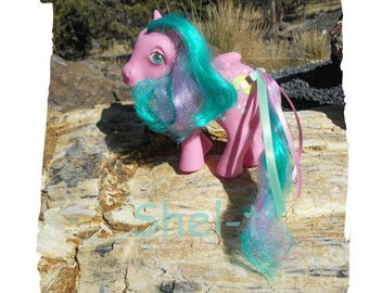 Sunshine My Little Pony -  Wave Runner  - Pegasus - Color Changing Hair - Vintage 80's Collectible