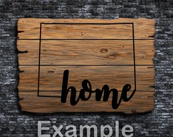 Wyoming Home ai  eps  jpg  png  and svg Clipart, Vinyl, Stencil - Cricut - Silhouette Cameo