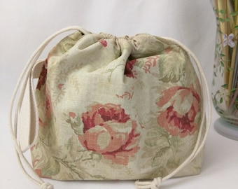 Small Super Draw Project Bag - Antique Roses