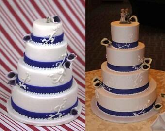 wedding cake replica ornament custom wedding cake ornament miniature wedding cake christmas ornament anniversary present anniversary gift