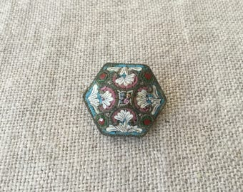 Italian vintage Brooch Micromosaic Handmade Micro Mosaic