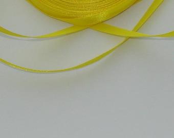 3 m width 6.7 mm yellow satin ribbon