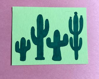 Limited edition botanical line drawing cactus succulent cactus drawing cutout fandeluxe Gallery