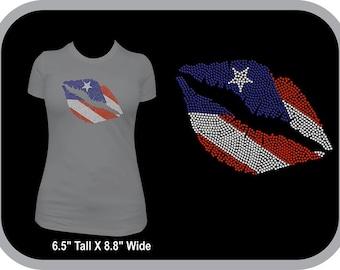 Puerto Rican Pride Lips Puerto Rico Kiss Smooch Proud