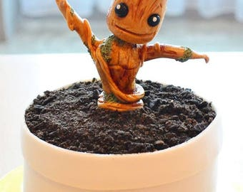 Baby Groot Fondant Cake Topper, Guardians of the Galaxy