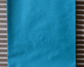 Sky Blue Glassine Lined Paper Gourmet Bakery Bags - 4 3/4 x 6 3/4 Inches - set of 25