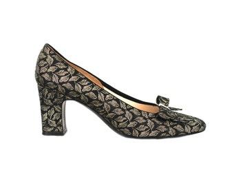 50s shoes, 1950s shoes, black vintage shoes, 50s heels, 50s black shoes, black pumps, black high heels, 50s high heels, 50s pumps, high heel