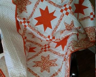 Quilt - Orange Stars