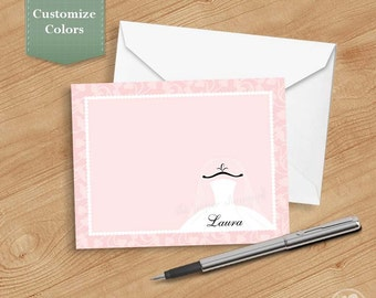 Bridal Thank you Cards, Printable Thank you Cards for Bridal Shower, Personalized Thank you Cards