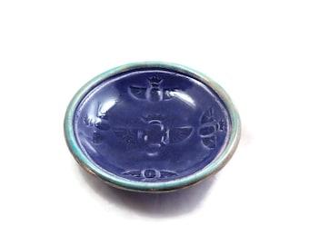 Raku  Pottery Egyptian Scarab Bowl