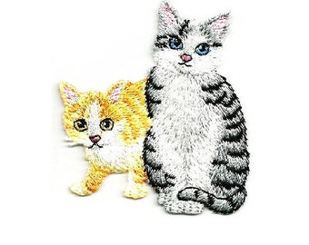 Cat - Kitten - Pet - Domestic - Cat Pals - Embroidered Iron On Applique Patch