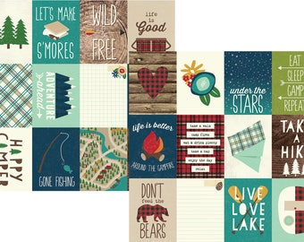 Simple Stories Cabin Fever 3x4 Journaling cards