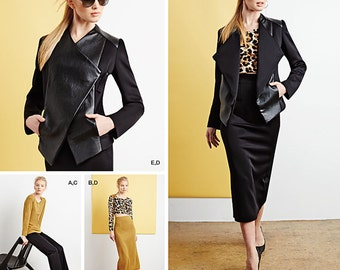 Simplicity Pattern 1070 Misses' Knit Top in Two Lengths, Skirt, Pants and Jacket