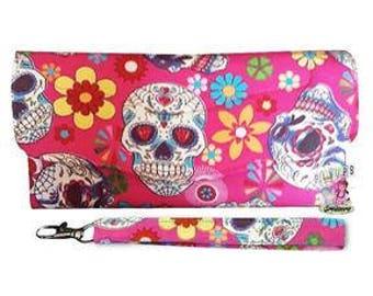 Pink Sugar Skull Wallet