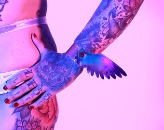 Holographic Angel Wing Wrist Ankle Cuffs