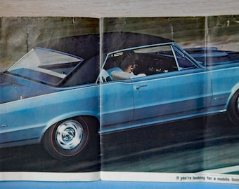 Vintage 1965 Pontiac Dealer Booklet Featuring the New Pontiacs for that Year - GTO and the 2+2