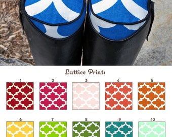 Custom Lattice/Quatrefoil English Boot Trees/Stuffers Many Colors - MADE TO ORDER