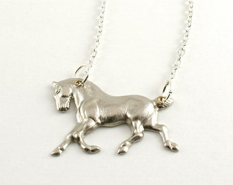 "Tiny Silver Horse Necklace, ""HiHo Silver"" Necklace"