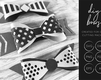 DIY Bows svg, 3D Bow SVG, SVG Cut Files, dxf cut files, cutting files, cut file, Silhouette Cameo, Cricut, Commercial Use, trendy svg