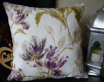 "LAURA ASHLEY GOSFORD Plum Cushion Cover. Size 16"" x 16""."
