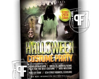 Halloween Costume Party Flyer - Costume Party Invitation - Halloween Invitation - Halloween Party Invitation - Halloween Party Invite