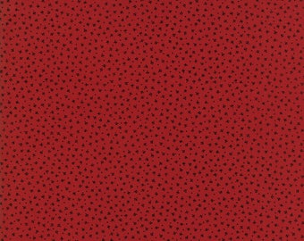 Moda - Needle & Thread Gatherings - Sprouts Red - Russet/Soot  - Fabric by the Yard 1233-14