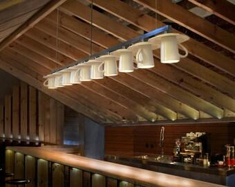 Pendant light. Coffee mug. Suspension light. Tea cup. Cafe light. Island Bar light.