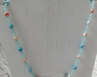 SALE Swirls And Scales Fish Necklace
