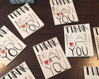 Thank you camping cards (3 pack)