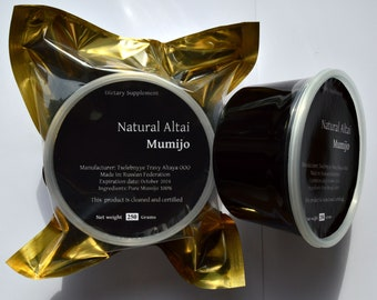 Authentic Altai Shilajit 1.76oz (50 gr)-7.06 oz (200 Grams). Pure Mumijo, Mumie, Mumio