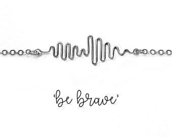 Sound Wave Bracelet for Her with a Hidden Message
