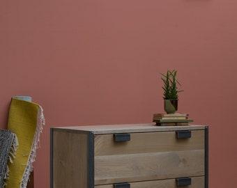 KONK! INDUSTRIAL Drawers [Two Drawer] Solid Oak - Bedroom Furniture
