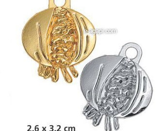 Christmas charms supplies 100-300 greek gouri good luck charms wholesale gold silver pomegranate charms new year charms supplies pomegranate