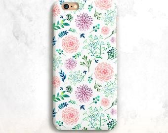 Floral iPhone 8 Gehäuse, Blumen iPhone X Case, iPhone 7 Fall, iPhone 6, iPhone SE Schutz, florale iPhone 8 Plus Fall, Blumen 7 Plus 6 Plus Gehäuse