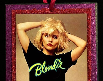 DEBBIE HARRY / BLONDIE  Glitter Ornament