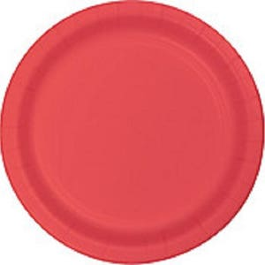 Coral Paper Dinner Plates - Disposable Party Plates - Wedding - Birthday - Christmas - Football  sc 1 st  Etsy & Football plates | Etsy