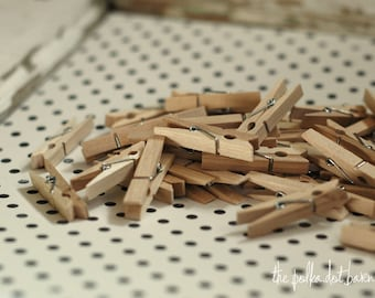 Mini Wooden Clothespins - Set of 20 Mini Clothespins - Wooden Clothespins - Clothespins - 1 3/4 inch clothespin- Natural Wooden Clothespins