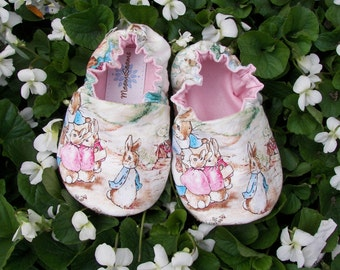 PETER RABBIT and family Baby Shoes--Beatrix Potter