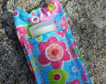 Floral Lip Balm Keychain, Lipstick Case, lip balm pouch