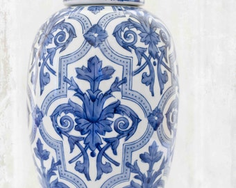 Blue and white ginger jar photograph - Fine art photography print