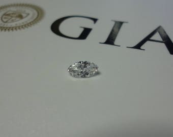 0.31 GIA Certified D SI2 Marquise Loose Natural Diamond