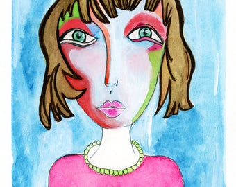 Madame Virginia... This lady is a High Quality Print of my original watercolor painting.