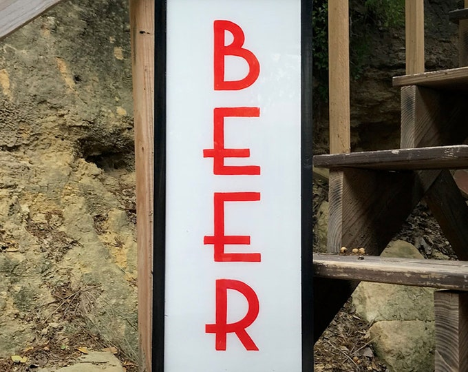 Classic Art Deco Ultra Thin LED Custom Light Box Beer Sign