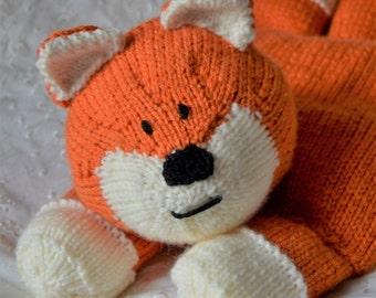 KNITTING PATTERN - Fox Pyjama Case Knitting Pattern Download From Knitting by Post