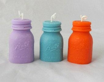 Mason jar votive candles, set of 3, pillar candle, mason jar candles, soy votive candle, decorative candle, unique candle, ball mason jar