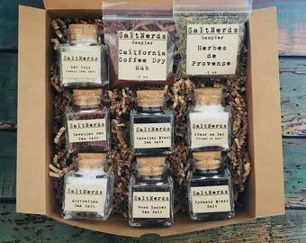 Salty Sampler Gift Set • SaltNerds Collection • Gourmet Salt Gift Set • Foodie Gift for Men • Outdoor Grilling Gift • Fathers Day • Dad Gift