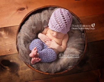 Crochet PATTERN - Crochet Hat Pattern - Crochet Pattern Baby - Lace Beanie Pattern - Includes Baby, Toddler, Kids, Adult Sizes - PDF 367