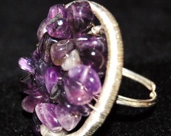 Amethyst Cluster Ring